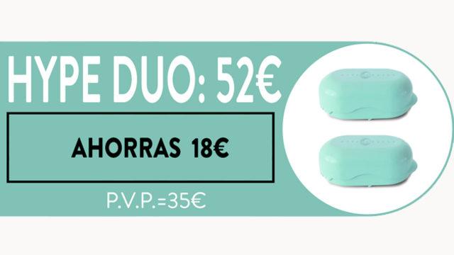 """""""HYPE DUO"""": AHORRAS 18€ _ UNIDAD A 26€ _ SIN LÍMITE EN NÚMERO DE RECOMPENSAS."""