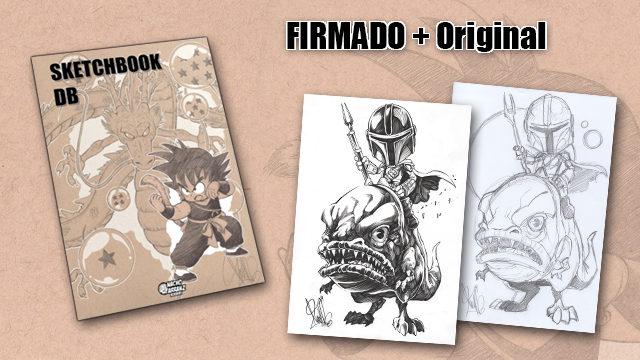 SketchBook DB Firmado + Original Mandaloriano