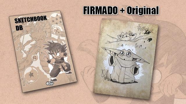 SketchBook DB Firmado + Original Baby Yoda Pajaritos.