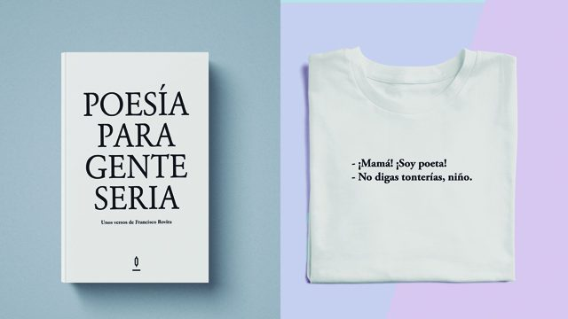 Poemario y Camiseta '¡Mamá! ¡Soy poeta!'