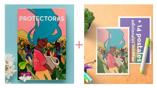 Cuento PROTECTORAS en edición física con tapa dura + Pack de 15 postales de  sus ilustraciones