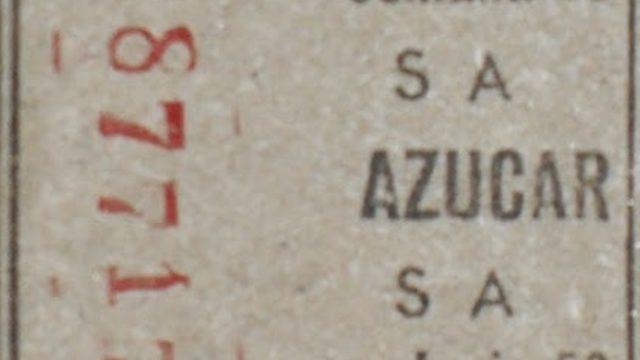 Un sello de la cartilla de racionamiento