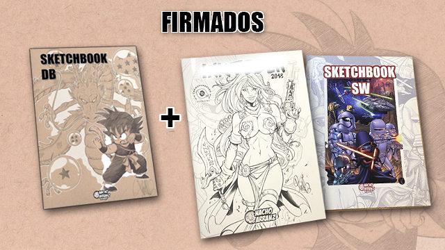 *Pack Ahorro 3x2*. SketchBook DB Firmado + SketchBook OctoberInk 2018 FIRMADO + SketchBook OctoberInk 2019 FIRMADO.