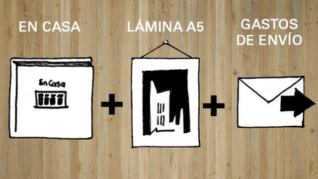 Libro En casa + Lámina A5