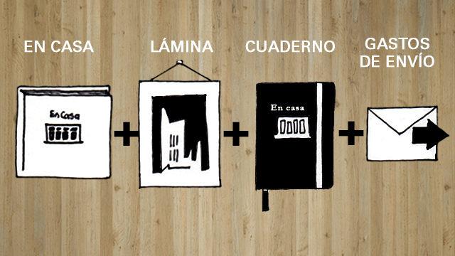 Libro En casa + Lámina A5 + Cuaderno A5