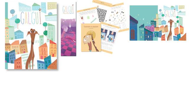 Galgui: Libro con marcapáginas, Cuadernito Actividades, Fondo de Escritorio