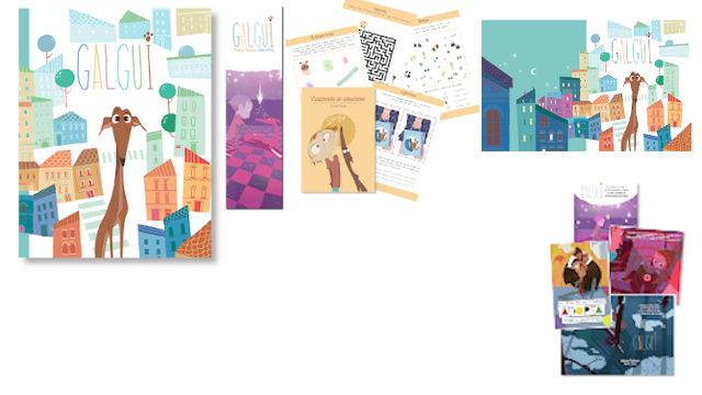 Adopta: Libro con marcapáginas, Cuadernito Actividades, Fondo de Escritorio y 4 postales