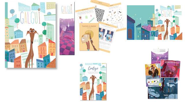 Familia: Libro con marcapáginas, Cuadernito Actividades, Fondo de Escritorio, 4 postales y Cuaderno hojas blancas