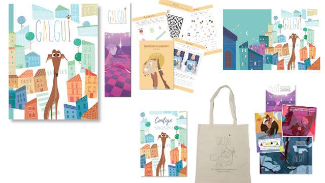 Amigos: Libro con marcapáginas, Cuadernito Actividades, Fondo de Escritorio, 4 postales, Cuaderno hojas blancas y Bolsa termosellada.