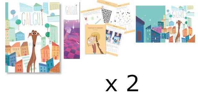 Doble: Libro con marcapáginas, Cuadernito Actividades, Fondo de Escritorio X 2