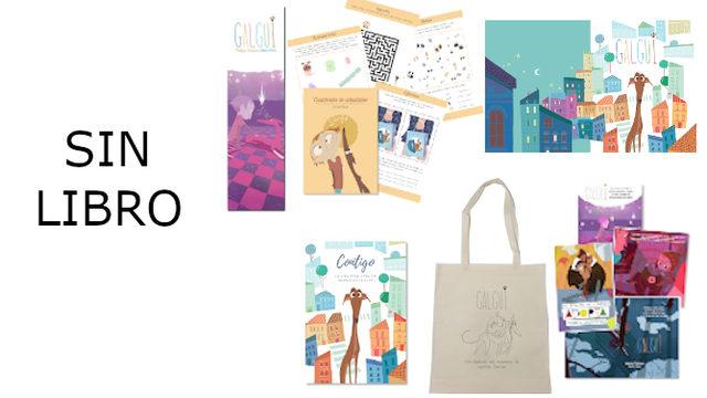 Solo Recompensas: Marcapáginas, Cuadernillo Actividades, Fondo escritorio, Postales, Cuaderno hojas blancas y Bolsa.