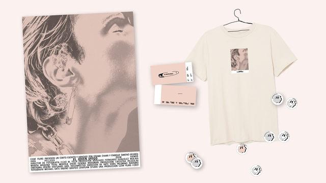 Invitación pase privado y merchandising 'El joven Diego'