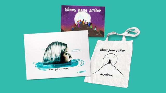 Disco-libro + Bolsa + Ilustración Paula Bonet