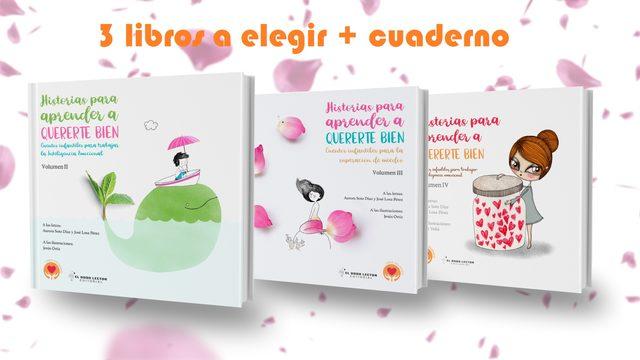 3 libros  + cuaderno de dibujo + envío con seguimiento a correos + poster