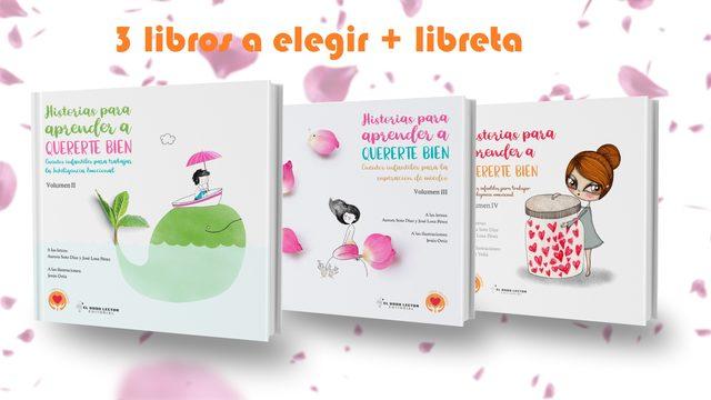 3 libros  + libreta + envío con seguimiento + poster