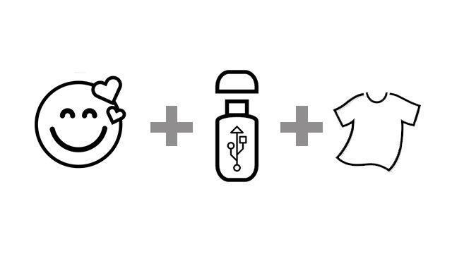 Pack merchandising PENDRIVE (MAESTRO + CAMISETA)