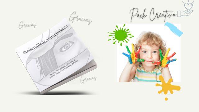 Pack CREATIVO: Libro #misemilladeconfinamiento + Agradecimientos + Taller creativo online + Aportación solidaria