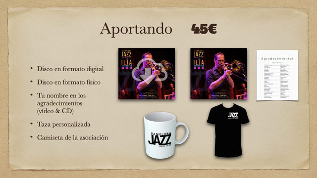 Disco Digital + Disco físico + Taza + Agradecimientos + Camiseta