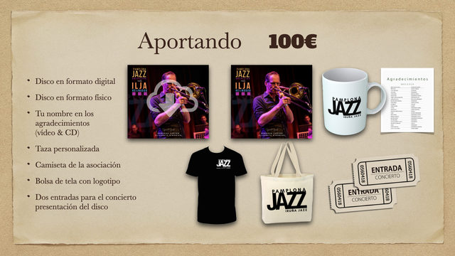 Disco Digital + Disco físico + Taza + Agradecimientos + Camiseta + Bolsa + Vinilo + 2 Entradas