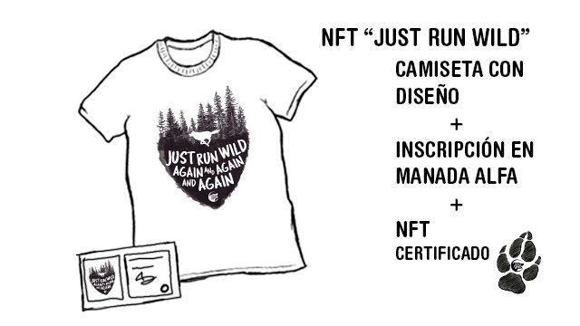 """NFT del diseño """"Just Run Wild Again and Again and Again"""""""