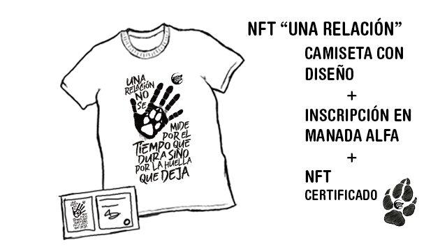 """NFT del diseño """"Las relaciones no se miden"""""""