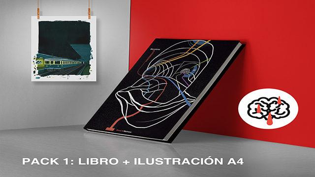 "Pack book + illustration ""BCN1987"" Alejandro Alonso A4 International Shipping"
