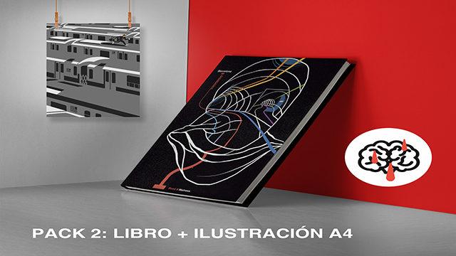"Pack book + illustration ""NY"" Alejandro Alonso A4 International Shipping"