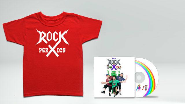 """Digipack CD i Samarreta """"Això és ROCK PER XICS"""""""