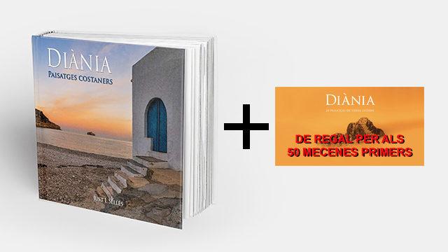 """Llibre """"Diània paisatges costaners"""", en mà, amb regal promocional"""