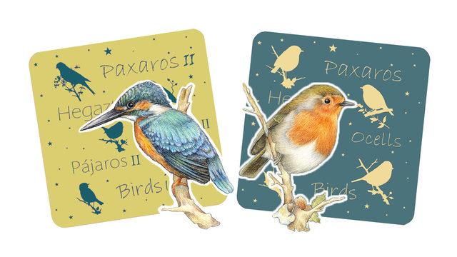 Pájaros I + Pájaros II + 2 pegatinas