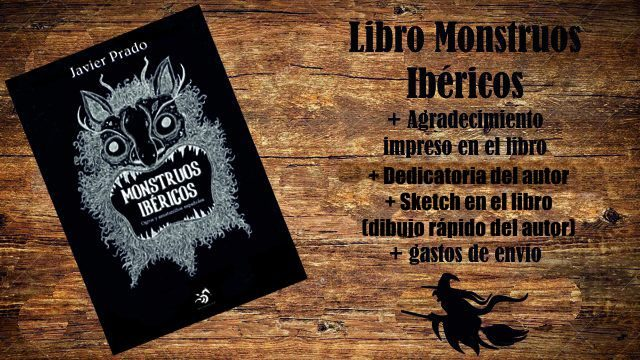 Monstruo con envio II: Libro Monstruos Ibéricos + Agradecimiento + Dedicatoria + Sketch + Envío