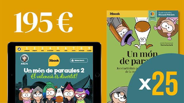 25 apps + 25 quaderns per a escoles