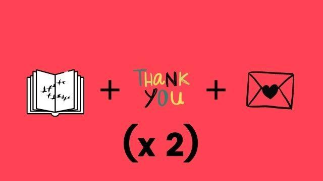 Dos Libros dedicados + Marcapáginas + Nombres en agradecimientos