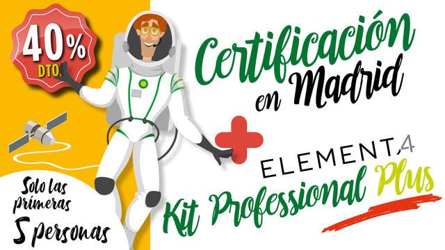 Certificación en Madrid + Kit Professional Plus