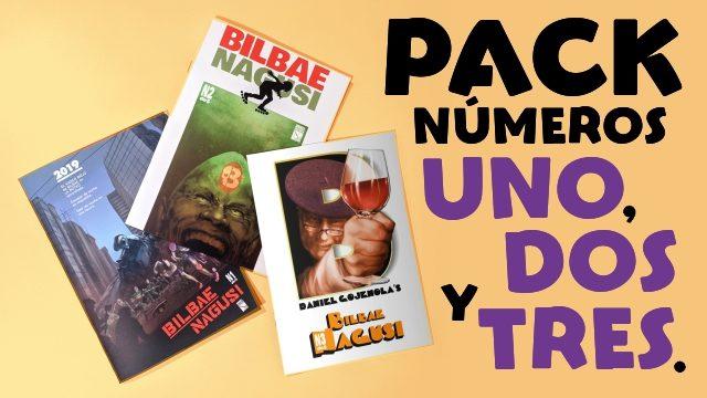 Pack números uno, dos y tres.