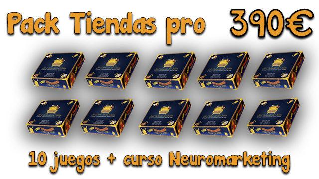 Pack Tiendas Pro. 10 Juegos + Curso de Neuromarketing
