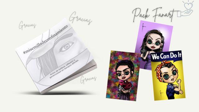 Pack FANART: Libro #misemilladeconfinamiento + Agradecimientos + Print Caricatura personalizada