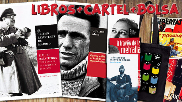 1 libro de Mauro + 1 libro de Cipriano Mera + Otro libro + Bolsa + Cartel