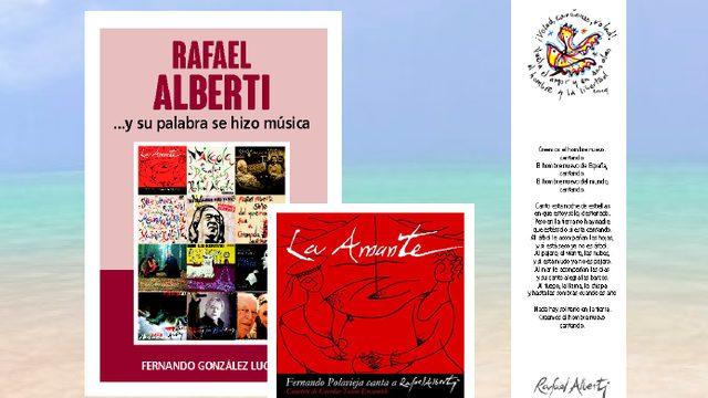 """Libro """"RAFAEL ALBERTI ...Y SU PALABRA SE HIZO MÚSICA"""" + Disco-libro """"LA AMANTE"""" + Marcapáginas"""
