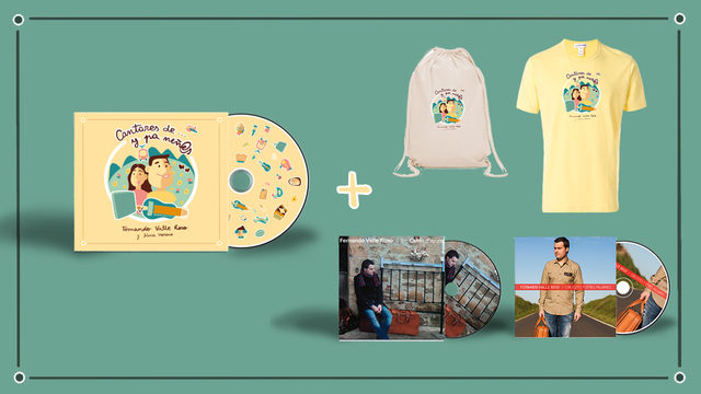 NUEVU DISCU + CD I + CD II + BOLSA + CAMISETA + AGRADECIMIENTU + ENVÍU
