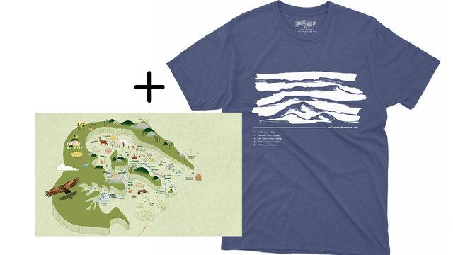 Pack Camiseta + mapa