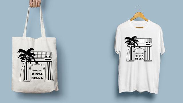2 Camisetas Grabaciones Vistabella + 2 Tote bag