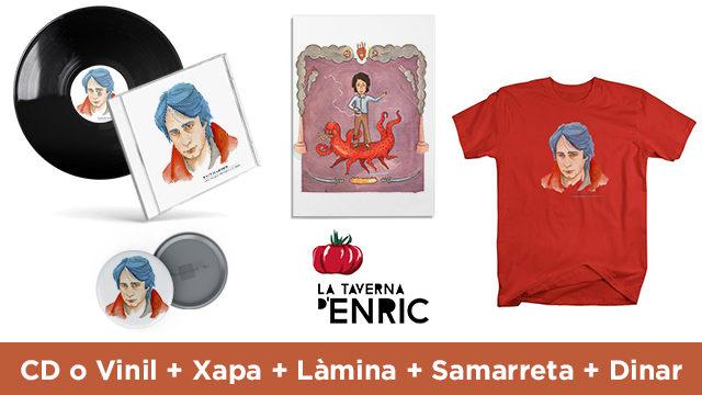 CD o Vinil + Xapa + Làmina + Samarreta + Dinar