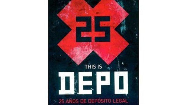 1 ejemplar del libro This Depo, 25 años de Depósito Legal + visionado del documental online.