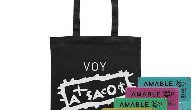 Tote Bag + Pack de sesiones especiales 80s, 90s, 00s y 10s by Dj Amable + visionado del documental online + Chapa+ Agradecimiento en los créditos