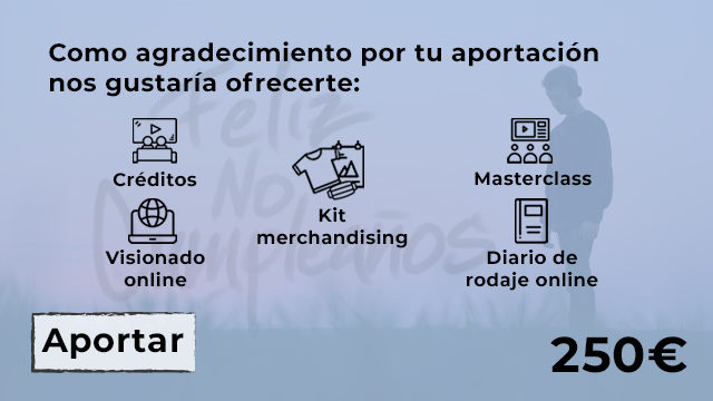 CRÉDITOS + VISIONADO +DIARIO DE RODAJE + MASTERCLASS (MAKING OFF DOCU) + KIT MERCHANDISING ( MASCARILLA - CAMISETA - POSTER DEDICADO)