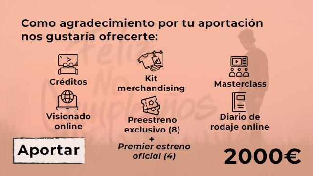TODO LO ANTERIOR + 8 ENTRADAS PARA EL ESTRENO OFICIAL DE LA PELÍCULA.