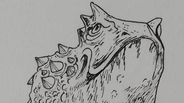 """Dagon – """"Entonces, de repente, lo vi. Tras una leve agitación que delataba su ascensión a la superficie, la entidad surgió a la vista sobre las aguas oscuras. Inmenso"""""""