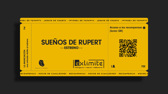 THE ANNUNCIATION. Two tickets for the opening night of Sueños de Rupert