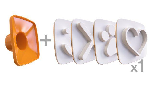 1X Happy Toast 4 PACK -  🙂